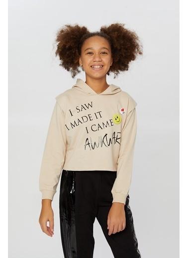 Little Star Little Star Kız Çocuk Smile Broşlu Sweatshirt Taş